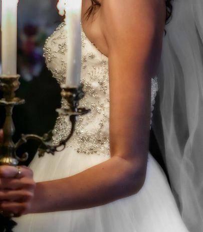 Suknia ślubna Justin Alexander 8724 rozm. 34 Strzelce Opolskie - image 7