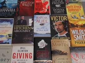 Selection of books available at our various stores from R10 - R100