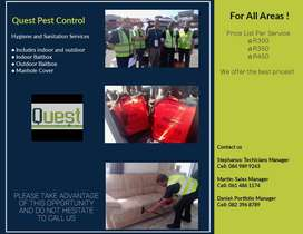 Deep steam cleaning and pest control