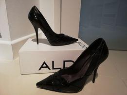 Nowe Aldo 39 szpilki, skóra naturalna, czarne, klasyczne.299 zl.