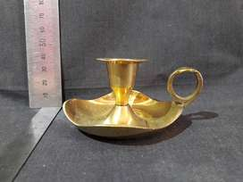 Single Candle Holder (Brass)