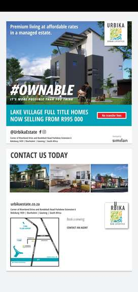 own your moment , own your home, Urbika lake village
