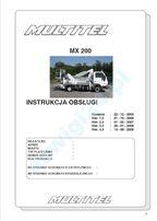 instrukcja obsługi multitel mx 200