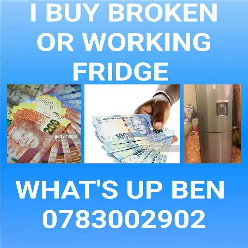 Cash for broken or working Fridge Freezer 0