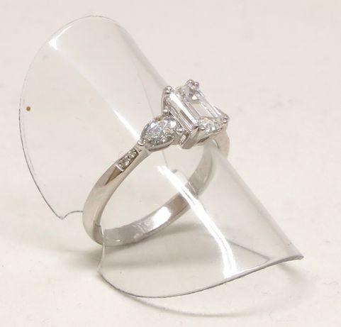Białe złoto 0,750. Pierścionek z brylantami 1,50 carat. Zaręczynowy. Szczecin - image 5