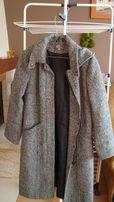 Płaszcz damski tweed r. 38