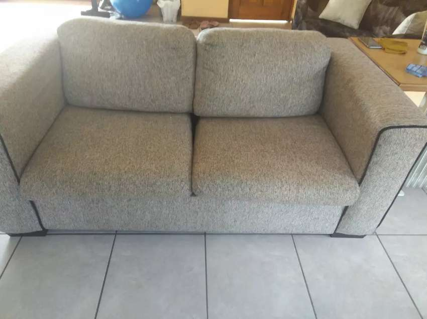 Big Light grey 2 seater couch 0