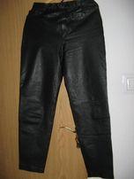 Spodnie ze skóry-meskie- czarne jak nowe roz 40