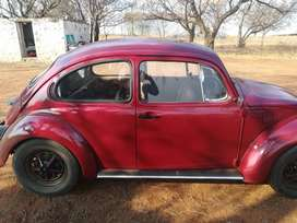 1974 vw beetle. 1300cc.red and black