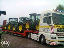 transport ciągników i maszyn rolniczych, budowlanych itp.