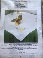 Наборы для вышивки крестом и гладью, скатерть с нитками и рисунком