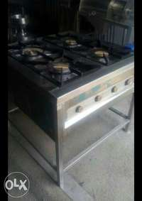 Stainlesss steel gas cooker four Barner commercial 0