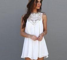 Śliczna biała sukienka BOHO life zwiewna koronka S/M jak nowa