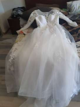 2 in one white wedding dress for sale