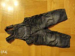 spodnie chłopięce ogrodniczki firmy H&M