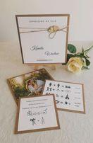Zaproszenie ślubne , zdjęcie, format książki , osobne karty