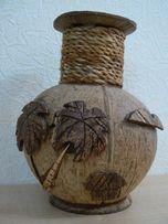 Оригинальная ваза из кокосового ореха.Hand made.