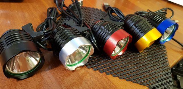 Вело фара USB 5 цвет CREE XM-L T6 LED 500Lm велосипед велофара фонарь Черкассы - изображение 2