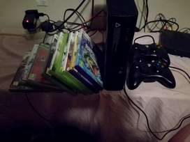 Xbox 360 +Kinect + 9 games R2500