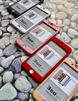 Чехол на 360° + стекло на для iphone 5 5S SE 6 6S 6+ 7 plus 8 айфон X