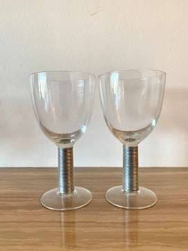 Cocktail Glasses with Metal Detailing