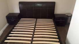Queen size bed set with nightstands and chest of draws 4