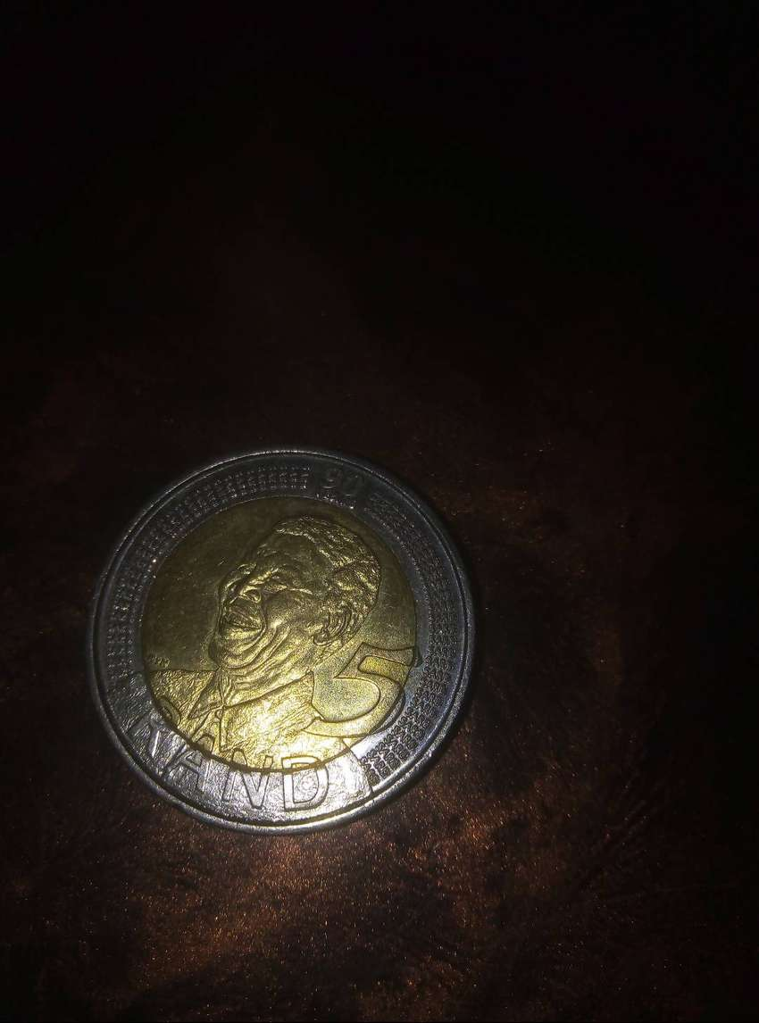 Mandela's coins for 2008 and 2018 0