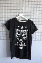 Czarna koszulka z tygrysem rozmiar L