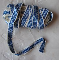 Тесьма темно-голубой орнамент