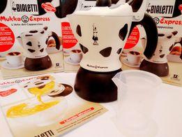 Кофеварка гейзерная Cappuccino maker Bialetti Mukka Express 2 tz Новая