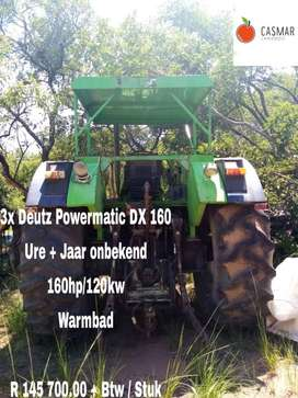 3 x Deutz powermatic DX 160