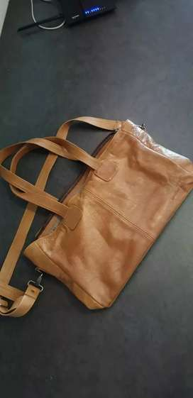 Leather Nappy Bag - Leatherlove