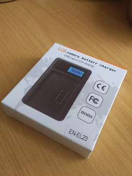 LCD camera battery charger