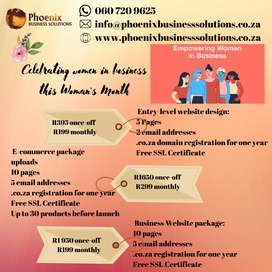 Woman's Month Promotion on website design