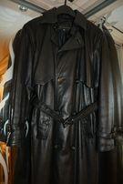 кожаный плащ - пальто мужской