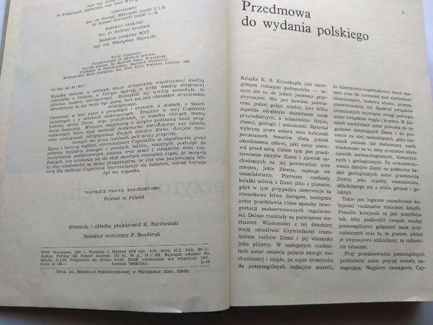PODSTAWY NAUK PRZYRODNICZYCH ,K. Bates Krauskopf , W-wa 1963r. Jarosław - image 1
