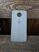 Moto Z Style Shell Mod Silver Oak Wood B Сток Крышка Не Чехол Motorola