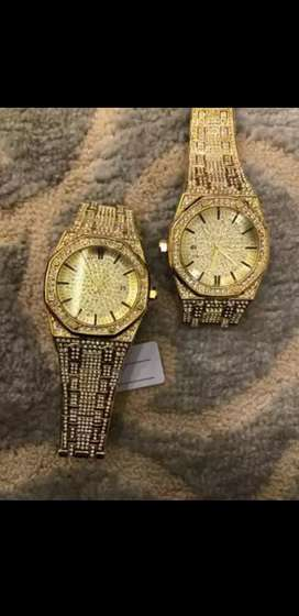Ice gold watch