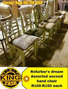 Secind hand wood chairs