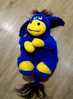 plecak osiołek niebieski chłopiec dziewczynka uniseks