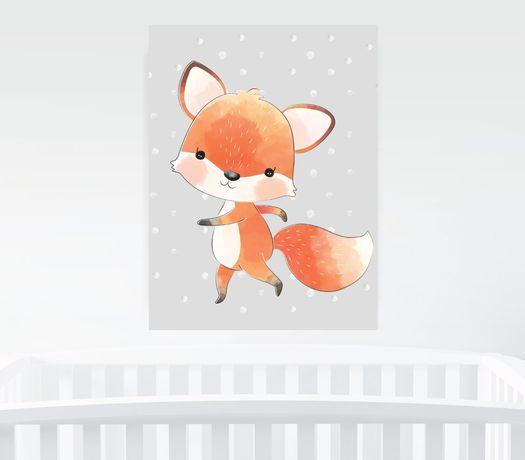 Obrazek A4 plus ramka, Baby Fox Pszczyna - image 1