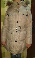 Пальто пуховик теплое женское длинное colin's