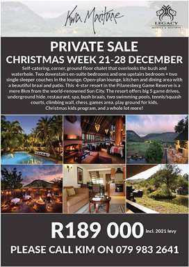 Kwa Maritane CHRISTMAS WEEK FOR SALE!!!