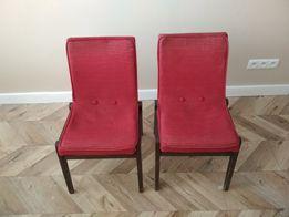 Krzesła fotele drewniane tapicerowane retro oldschool