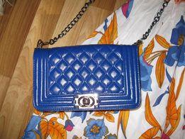 Новая сумка клатч синего цвета