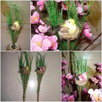 Птичка в гнезде, декор для интерьера и рукоделия, поделок