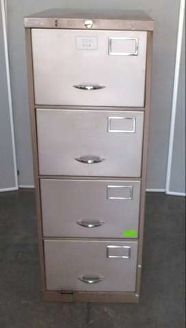 4 Drawer steel 2 tone cabinet