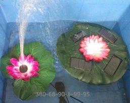 Садовый Фонтан на солнечных батареях с насадками