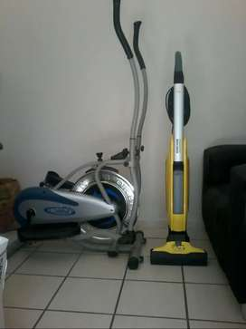 Orbitrek exercise machine and Karcher 2 in 1 vaccum cleaner