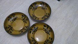 Тарелки 3 штуки из глины с росписью набор 70 грн